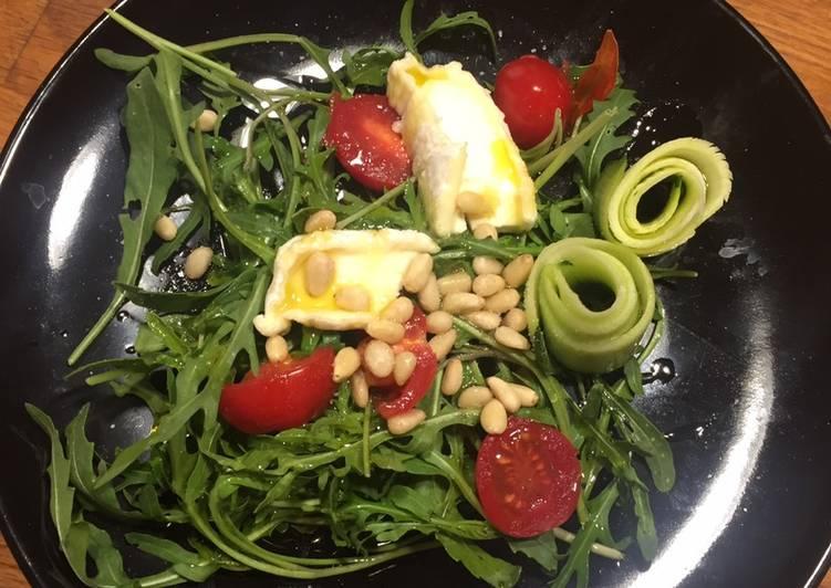 Recette: Délicieux Salade avec roquette du jardin
