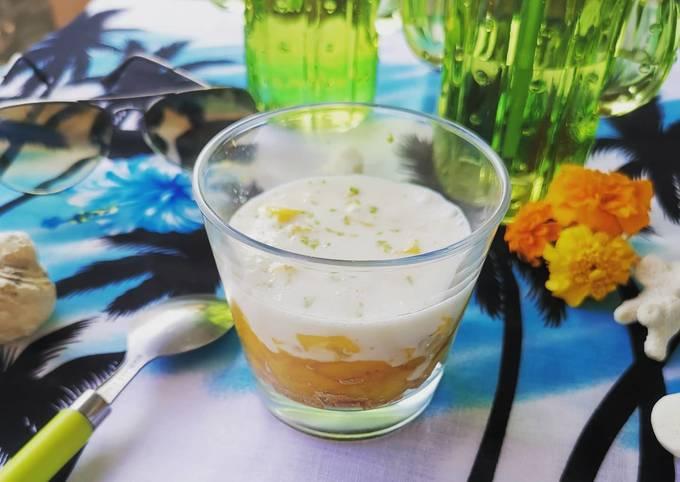 Tiramisu de mangue légère