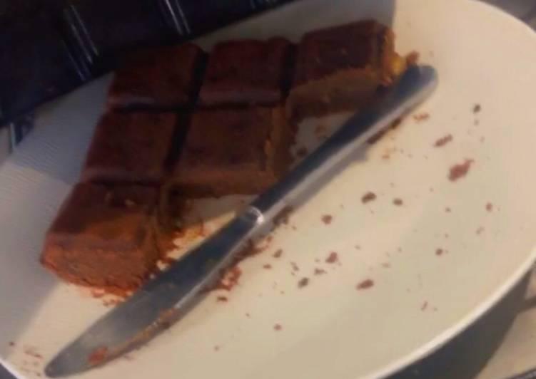 Brownie bananes chocolat