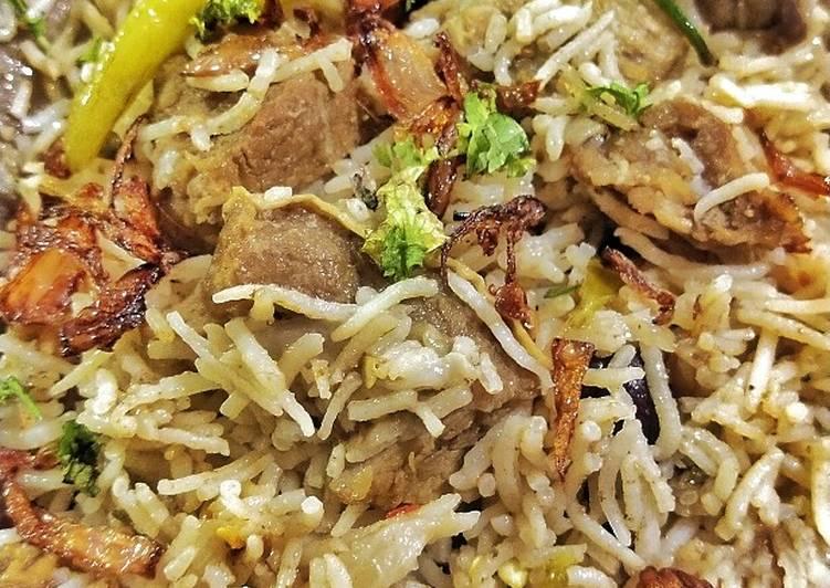 Deghi mutton yakhni pulao 😋