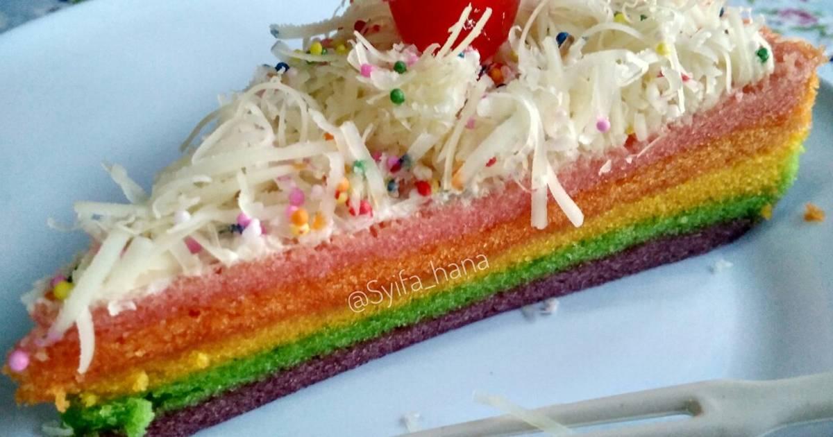 Resep Rainbow cake kukus Ny. Liem oleh Mama Syifa Hana ...