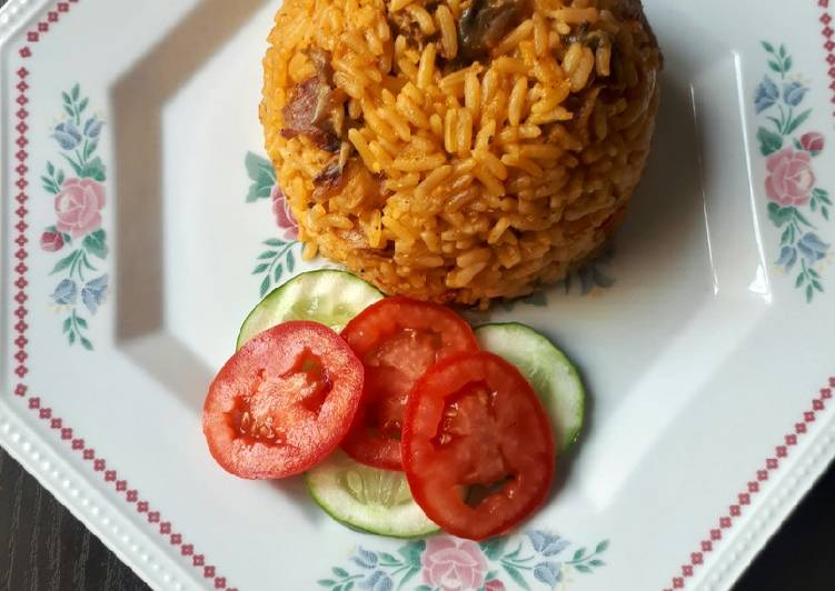 Step-by-Step Guide to Prepare Any-night-of-the-week Jollof rice with dried fish