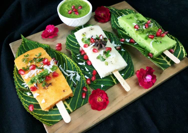 25 Minute Recipe of Blends Trio Dhokla Candy