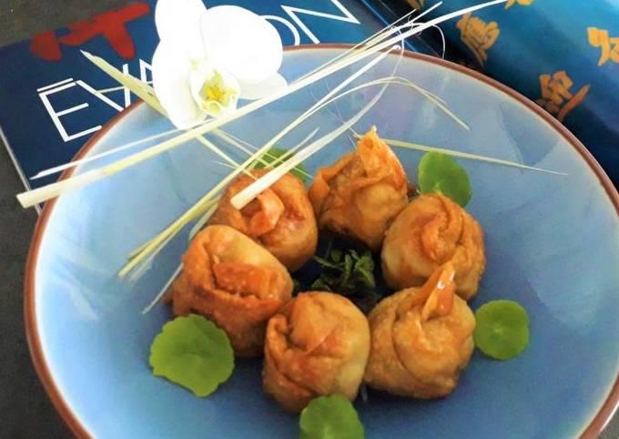 Won- tons frits au poulet et crevettes
