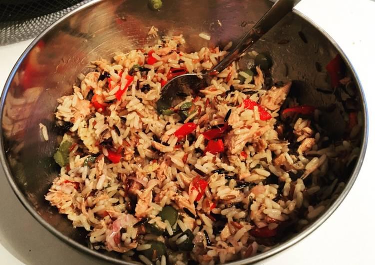 Salade simple aux 3 riz