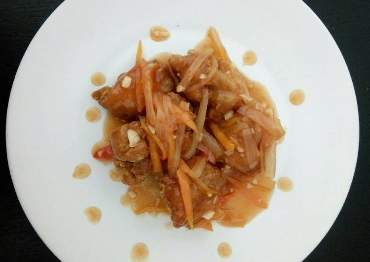 Resep Ayam Karage saus asam manis Yang Gampang Lezat