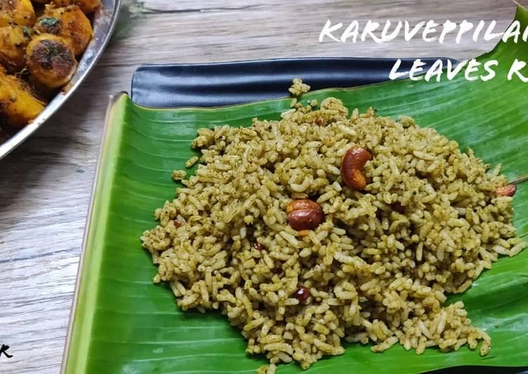 How to Make Favorite Karuveppilai Sadam Recipe | Curry leaves rice recipe