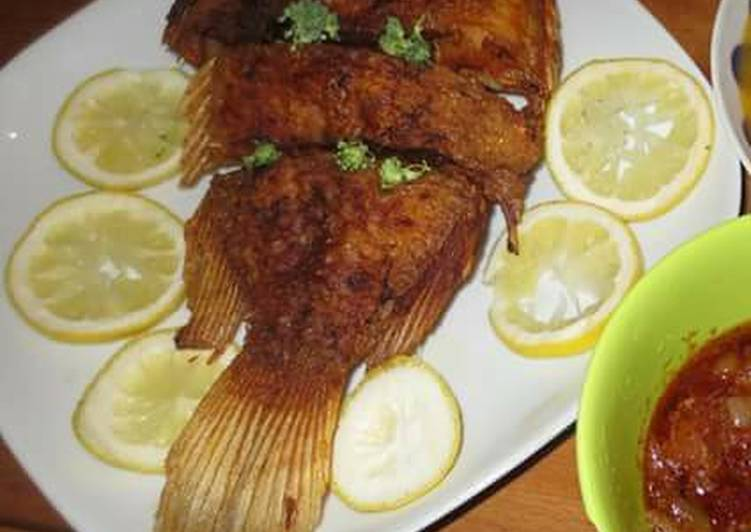 Simple Way to Prepare Most Popular Fried Fish(tilapia)