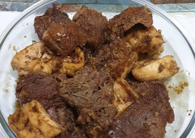 """Empal manis daging kerbau """"dendeng"""" khas kudus temen soto kudus"""