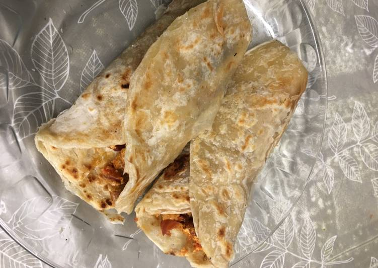 Step-by-Step Guide to Make Speedy Paratha kebabs wrap with egg