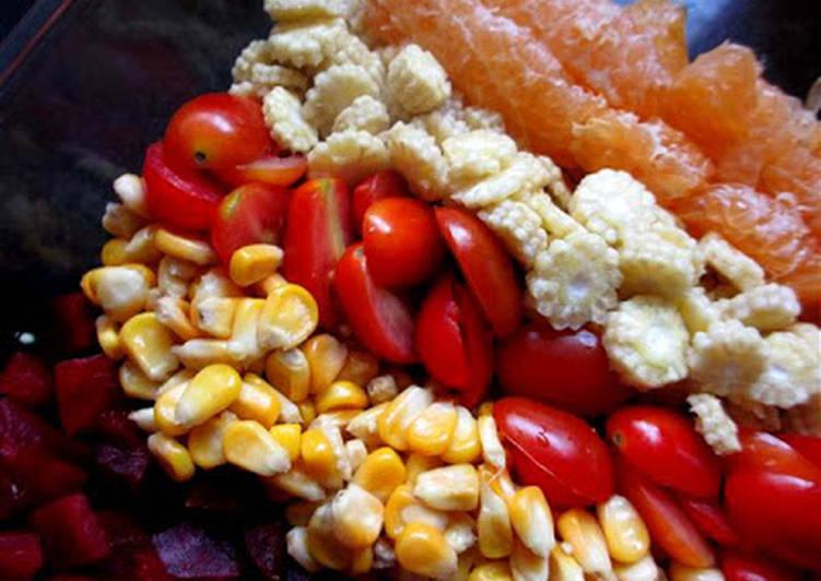 Recipe: Delicious Oranges & Veggies in Soy Vinaigrette