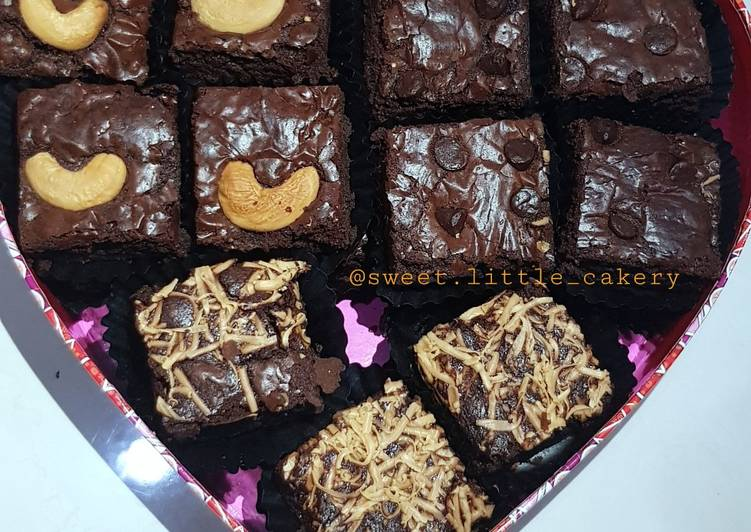 Brownies Panggang No SP/additive (fudgy, chewy, shinny crust)