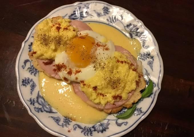 California Farm Eggs Benedict, microwave
