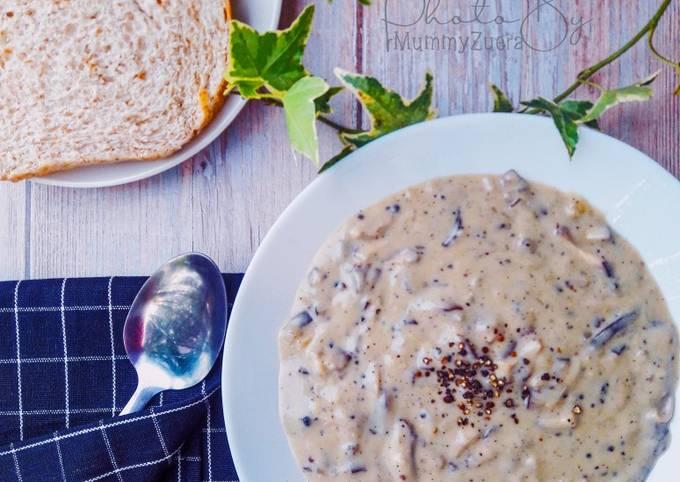 Sup Cendawan Homemade