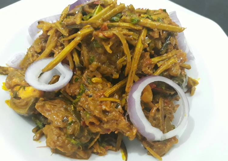 Recipe of Ultimate Isi egwu(goat head) and ugba