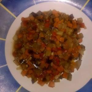 Picadillo ligero de berenjena y zanahoria
