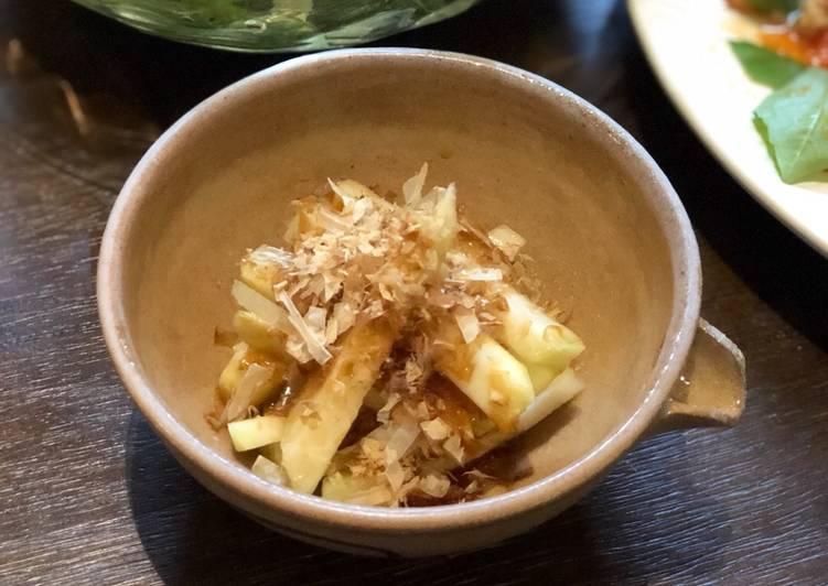 Recipe of Super Quick Homemade Kohlrabi bonito flake salad