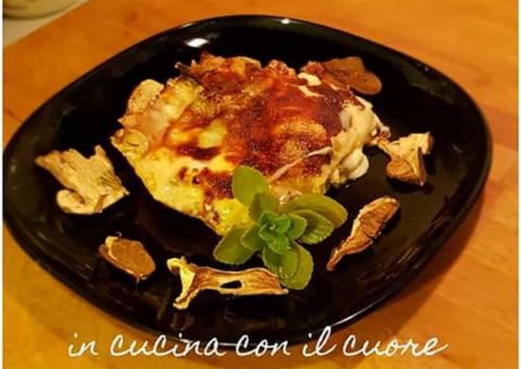 Recipe: Yummy Lasagne porcini ricotta e scamorza 🎄⛄🎄⛄🎄