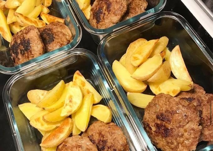 Tex Mex Turkey patties with Potatoes