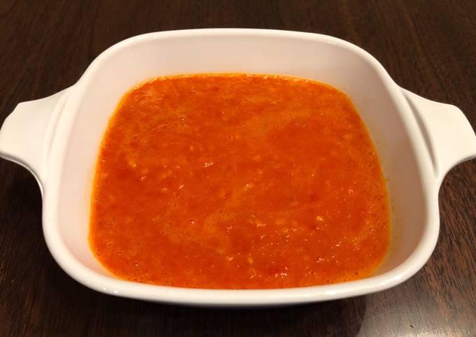 Easy Homemade Chili Sauce (Sambel cabe for bakso or mie ayam)