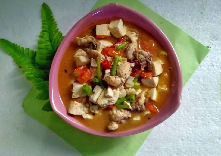 EatingClean = Asem asem Ayam Tahu Pedas