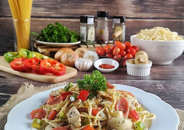 Spaghetti Aglio E Olio #batch17 - velavinkabakery.com