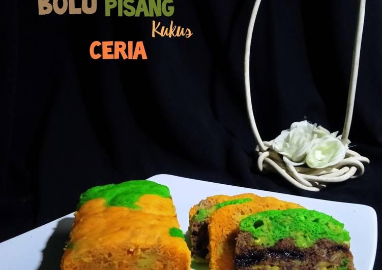 Bolu Pisang Kukus Ceria - cookandrecipe.com