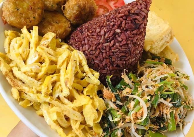 Tumpeng Mini Nasi Merah for Cookpad Indonesia Anniversary