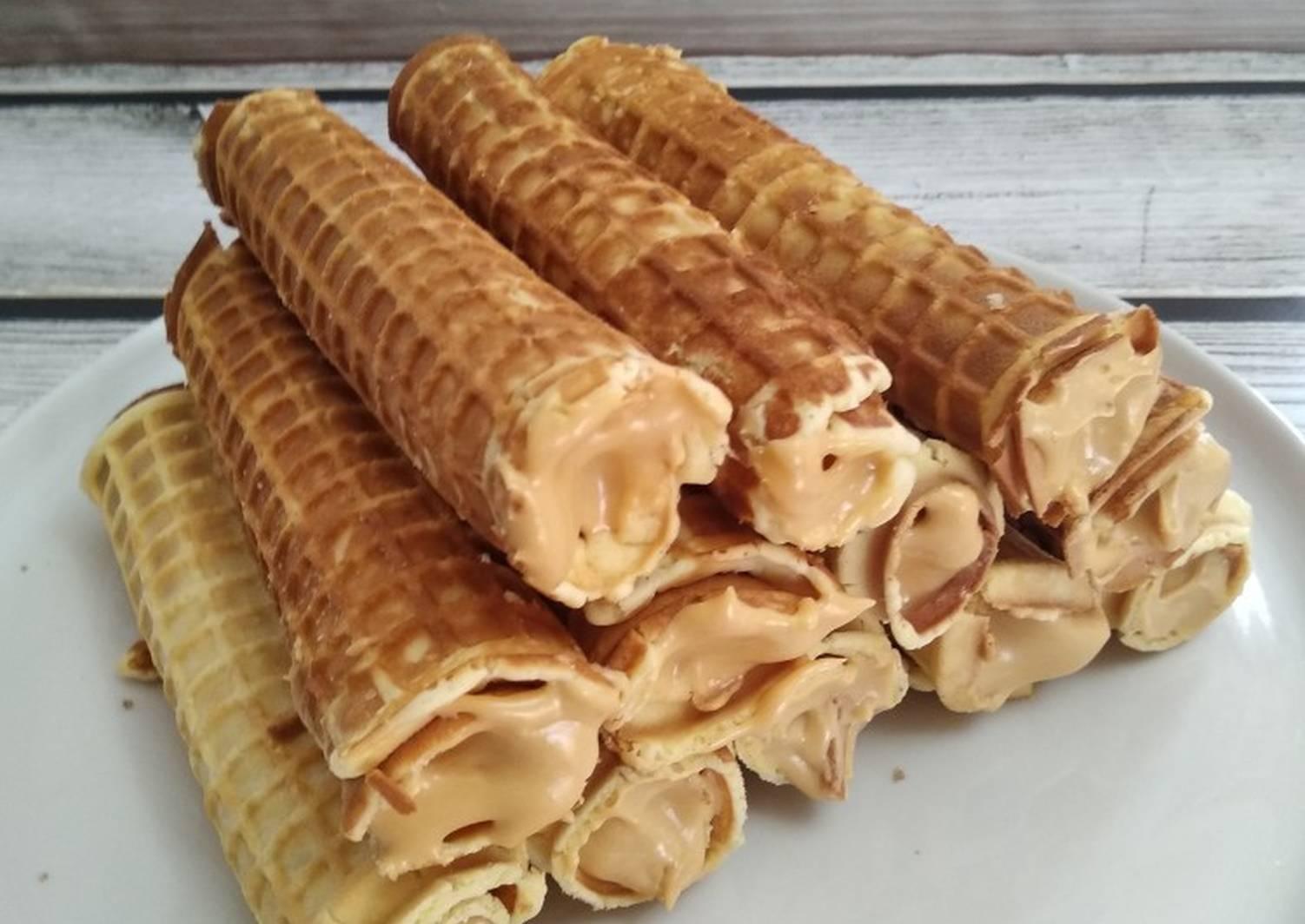 Вафельные трубочки со сгущенкой рецепт с фото