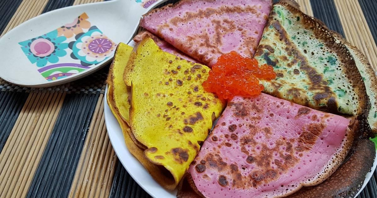 разумную разноцветные блинчики рецепт с фото что