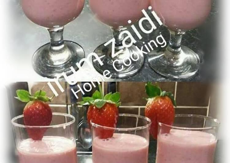 Recipe of Award-winning 🍹🍓🍓Strawberry smoothie 🍓🍓🍹