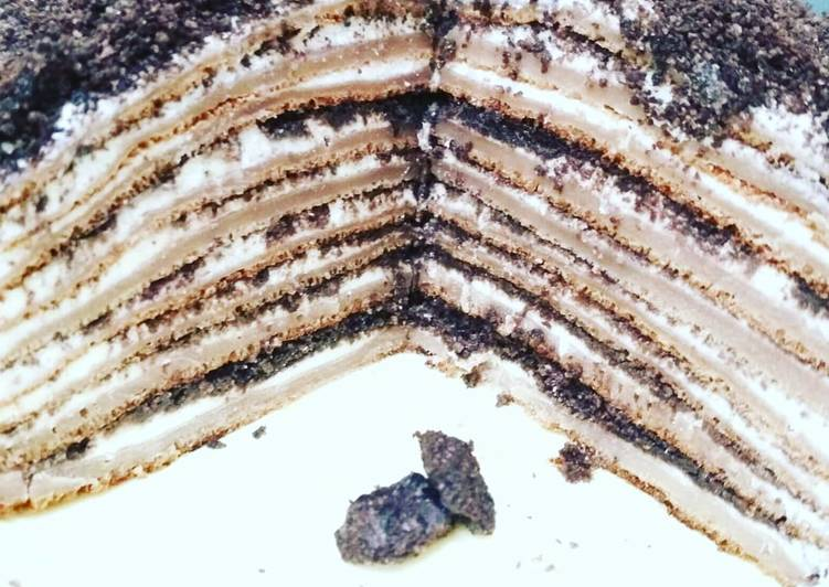 Choco Oreo Mille Crepes