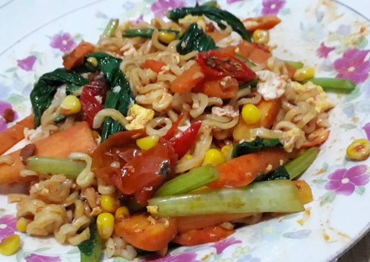 Resep Mie Sedap Spicy Korean ala anak kos sehat Favorit