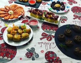 Mesa cena noche fin de año