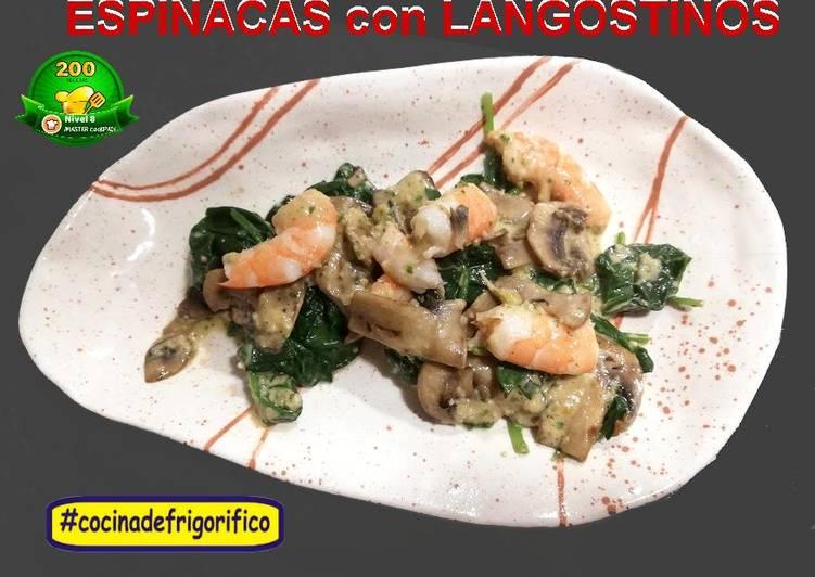 Ensalada de Espinacas con Langostinos