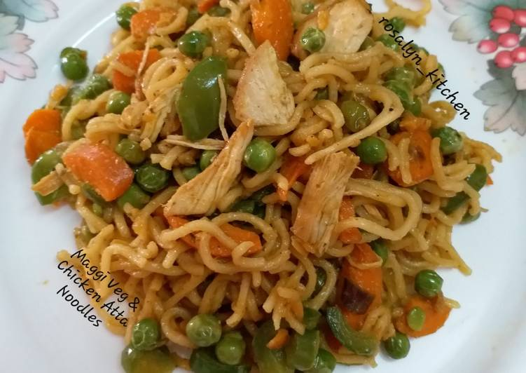 Maggi Veg & Chicken Atta Noodles