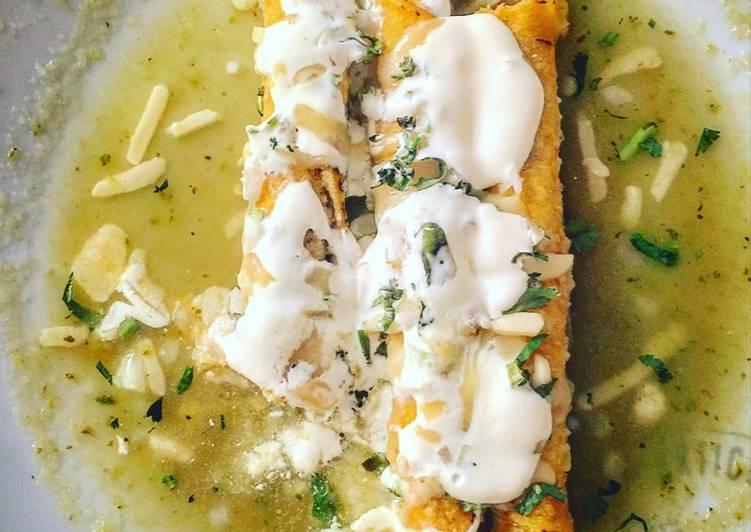 Enchiladas verdes en 5 min