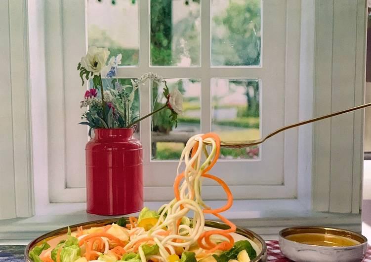 Salad sayur organik lemon sauce