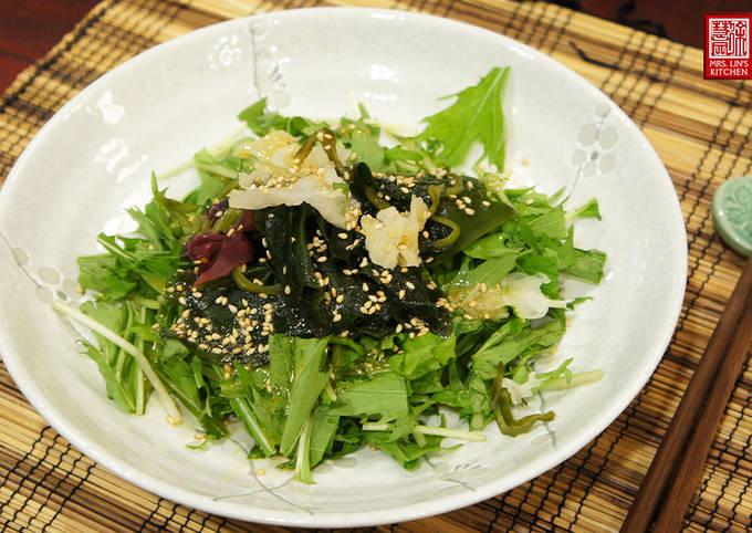 Japanese Seaweed Salad with Sesame & Miso Dressing
