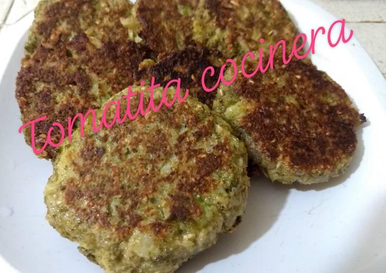 Tortitas de brócoli con avena