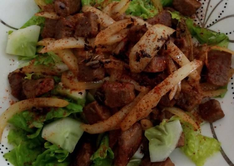 Cara mudah membuat Beef Salad (Diet Mayo)