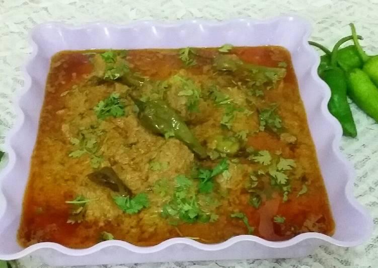 Recipe of Super Quick Homemade Hyderabadi Mirch Gosht