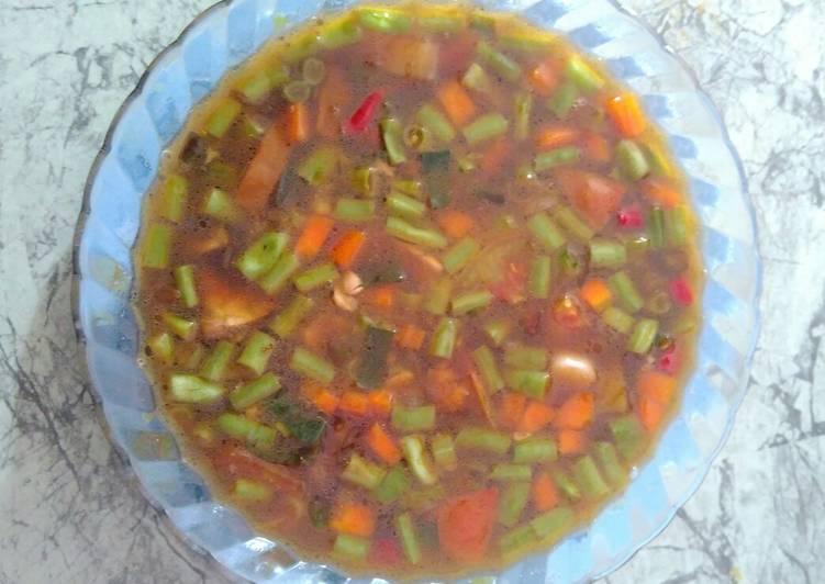 Sayur asem asem buncis wortel