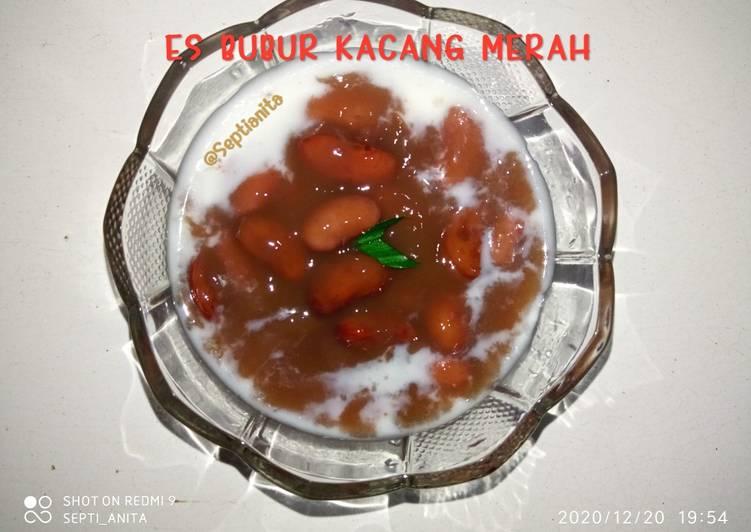 Cara membuat 14. Es Bubur Kacang Merah
