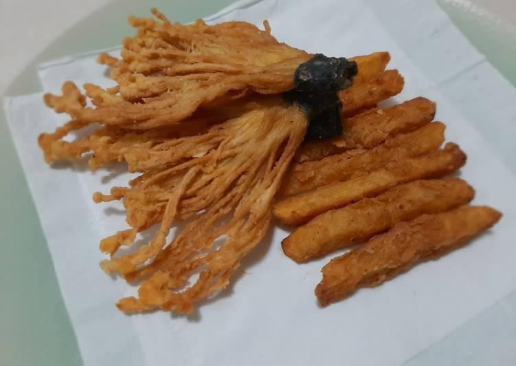 Enoki dan kentang crispy - cookandrecipe.com