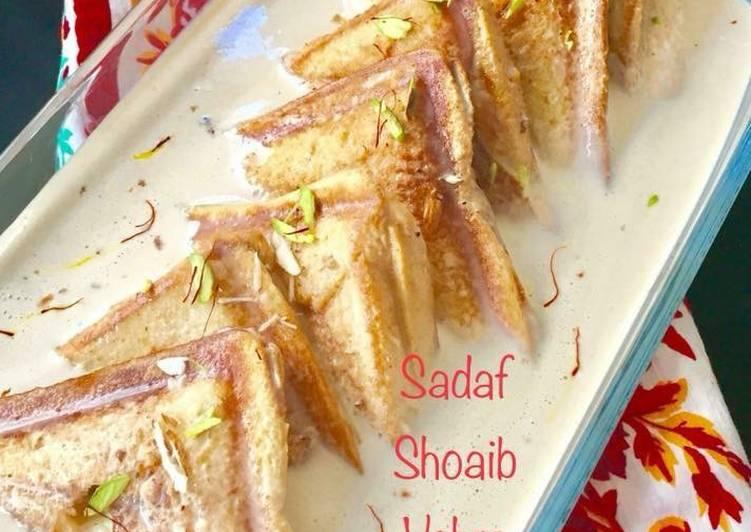 "Filled shahi tukray / Sandwich shahi tukray"""