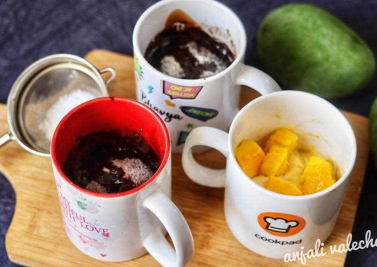 Chocolate and Mango Mug cakes