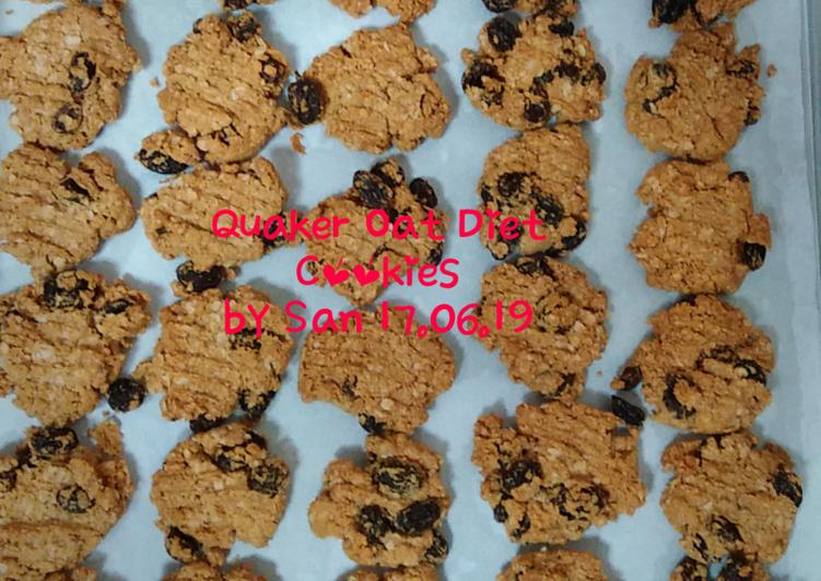 Langkah Mudah untuk Menyiapkan Quaker Oat Diet Cookies, Bikin Ngiler