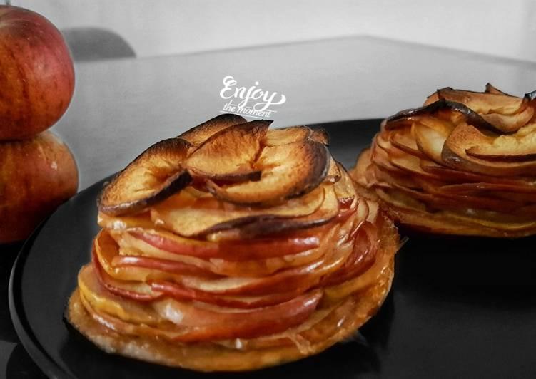 Comment Préparer Des Tartelette aux pommes effeuillées