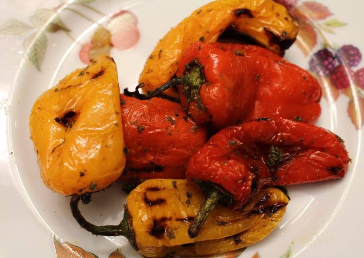 Grilled Baby Peppers